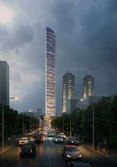 Adrian Smith and Gordon Gill Architecture Unveils Proposal for Mumbai's Tallest Tower #nightrender