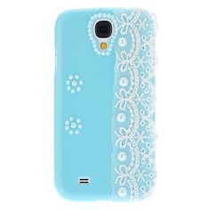 Blue Pearl Hard Cover with White Lace for Samsung Galaxy S4 I9500