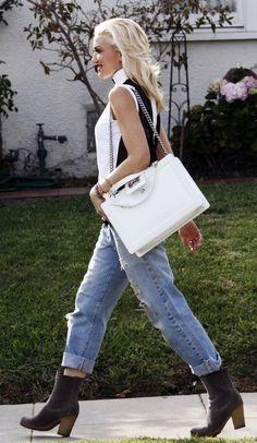 Gwen Stefani #jeans #boyfriendjeans