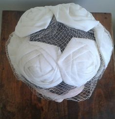 WHITE ROSE Vintage Hat Retro Hat Derby Hat Womens