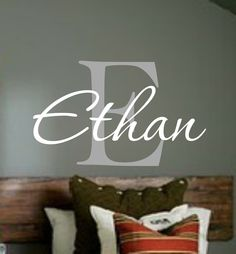 Personalized Monogram Kids Wall Decals - Vinyl Wall Art - Vinyl Lettering - baby boy nursery wall decal. $23.00, via Etsy.
