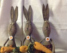 Primitive Bunny and Carrot