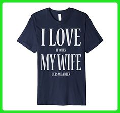 Mens I Love It When My Wife Gets Me A Beer Funny Tee Shirt 3XL Navy - Food and drink shirts (*Amazon Partner-Link)