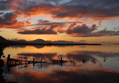 The sky above Tralee Bay - Blennerville - Kerry - Ireland Ireland, Sky, Celestial, Sunset, Outdoor, Heaven, Outdoors, Heavens, Irish