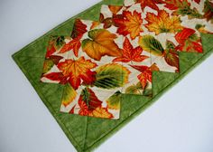 Elegant Fall Autumn Quilted Table Runner by ForgetMeNotQuilteds