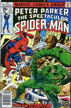 Spectacular Spider-Man Vol 1 21 Bronze Age by RubbersuitStudios Marvel Comics, Marvel Comic Books, Marvel Heroes, Comic Books Art, Comic Art, Spectacular Spider Man, Amazing Spider, Book Cover Art, Comic Book Covers
