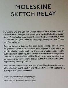 Moleskine Sketch Relay Designer Brief   #londondesignfestival2013