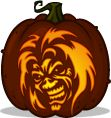 Pumpkin Carving Patterns and Stencils - Zombie Pumpkins! - Eddie pumpkin pattern - Iron Maiden  I NEED to do this one xD