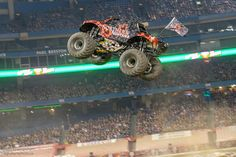 High flying action at @MonsterJam Rogers Centre, Toronto