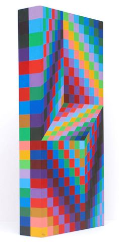 Victor Vasarely's colourful optical illusion