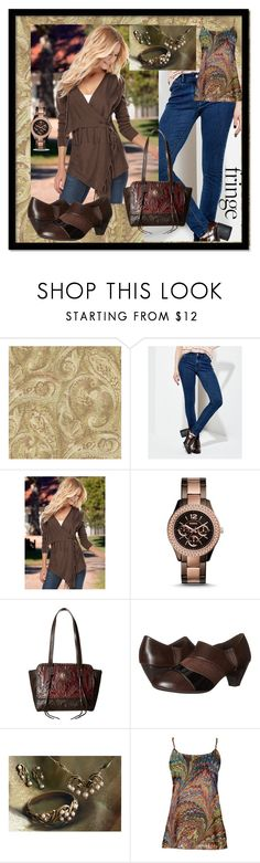 """""""Fun Flirty Fringe"""" by aurorasblueheaven ❤ liked on Polyvore featuring York Wallcoverings, Venus, FOSSIL, American West, Soft Style, Simply Aster and fringe"""