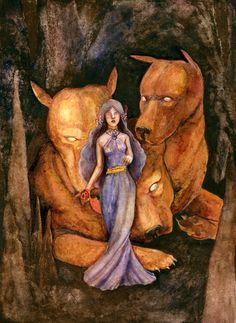 Persephone and Cerberus by matildarose.deviantart.com