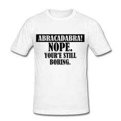 Abracadabra Camisetas - Camiseta ajustada hombre