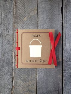 Bucket List Personalized in Red by twinebindery on Etsy, $16.00