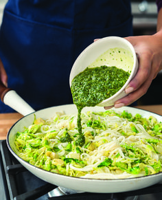 """Pesto """"Zoodles"""" with"""