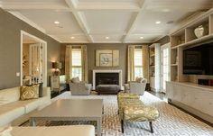 Coffered Ceiling in Family Room. #DonnamarieChaimanis #Muttontown #GoldCoast #GoldCoastRealtor #iSellHomes #MillionDollarListings #NassauCounty #LongIsland #Realtor #RealEstate #LuxuryHomes #LuxuryListings #DreamHome #DreamHouse #CofferedCeilings