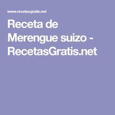 Receta de Merengue suizo - RecetasGratis.net
