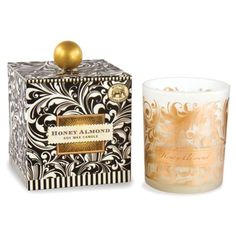 Black Florentine Honey Almond Scented Candle