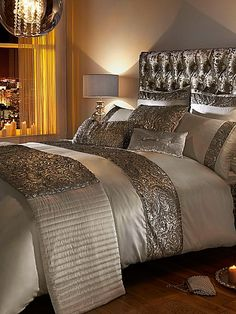 Noralla king duvet cover in Champagne by Kylie Minogue