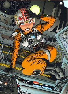 Rebel pilot by Darwyn Cooke. Star Wars.