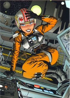 Rebel pilot by Darwyn Cooke. Star Wars.