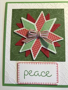Aug. 13: Never too early to make Christmas cards. Sunday craft day! Christmas Quilt stamps and dies from #stampinup.