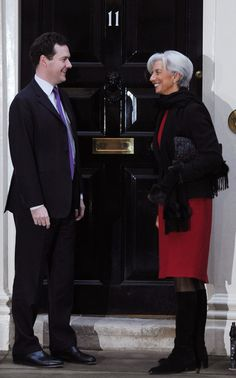 Christine Lagarde Photo - Chancellor Of The Exchequer George Osborne Meets Managing Director Of The IMF Christine Lagarde