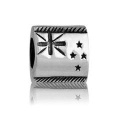 NZ Flag | NZ Silver Bracelet Charms - evolve-jewellery.co.nz