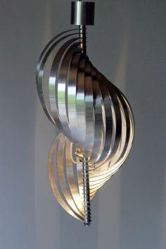 Mid-Century Helical Pendant Light by Henri Mathieu for Lyfa 6