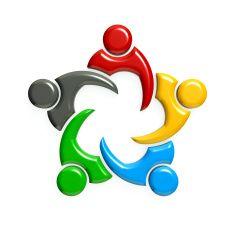 Teamwork People Group Meeting. 3D Rendering Illustration stock photo