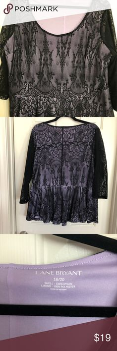 a12a55f9b6 Purple with Black Lace Top Gently worn a few times. No rips