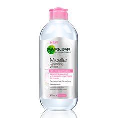Garnier SkinActive Micellar Cleansing Water and Makeup Remover The Body Shop, Garnier Micellar Water, Corine De Farme, Best Makeup Remover, Makeup Removers, Skin Active, Roche Posay, L'oréal Paris, Face Cleanser