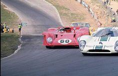1969 BOAC 500 Brands - Peter Revson (Lola) chops off Amon's Ferrari | Flickr - Photo Sharing!