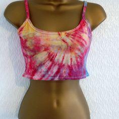 Cotton Bandeau Cropped Casual Tops & Shirts for Women Tie Dye Crop Top, Tie And Dye, Ibiza, Bandeau, Casual Tops, Bikinis, Swimwear, Tube, Hipster