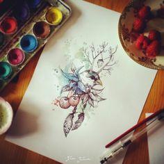 Karolina Kubikowska {Emily's Moose} tattoo and illustration
