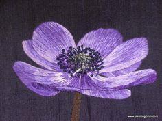 Royal School of Needlework Certificate piece - detail of Silk Shading
