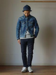 comoda上西猛夫さんのコーディネート Denim Jacket Men, Denim Jeans Men, Best Jeans, Dope Outfits, Denim Outfit, Gentleman Style, Mens Clothing Styles, Denim Fashion, Jeans Style