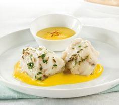 Coda di rospo con salsa al mascarpone e zafferano