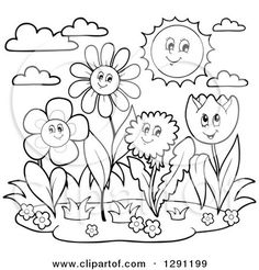 Flower Clip Art Coloring Pages Inspirational Growing Things Kids Environment Kids Health National Halloween Coloring Pages Printable, Witch Coloring Pages, Summer Coloring Pages, Dinosaur Coloring Pages, Flower Coloring Pages, Coloring Pages To Print, Free Printable Coloring Pages, Adult Coloring Pages, Fairy Coloring