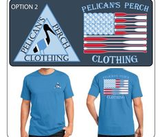 "Coming soon! ""Oar Flag"" shirt!! What do you think? www.PelicansPerchClothing.com #getperched"