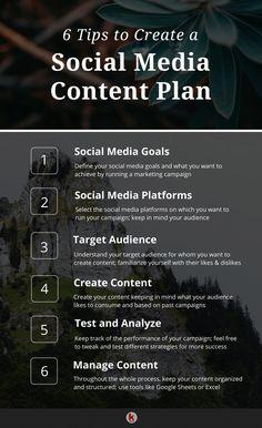 Tips to Create Social Media Content Plan Social Media Marketing Business, Marketing Tools, Content Marketing, Internet Marketing, Online Marketing, Marketing Ideas, Le Social, Social Media Content, Social Media Tips