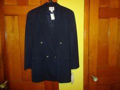 NWT Ladies Liz Claiborne Studio L/S Blazer/Jacket.  Size 10.  Dark Navy Blue #LizClaiborne #BasicJacketBlazer