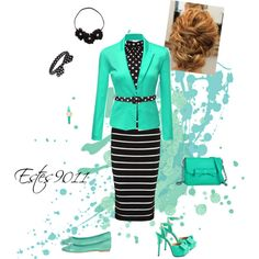 """Stripes & Polka Dots"" by estes9011 on Polyvore"