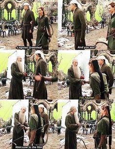 Gandalf meeting Tauriel, haha.