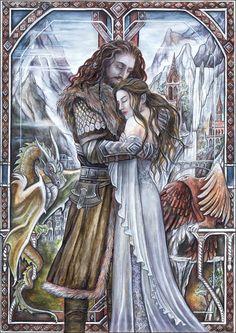Thorin Oakenshield - The Hobbit Hobbit Art, O Hobbit, Middle Earth Books, John Howe, Fantasy Love, Thorin Oakenshield, Bilbo Baggins, Jrr Tolkien, Tolkien Books