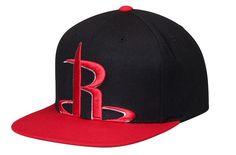 Mitchell & Ness Houston Rockets Cropped XL Logo Snapback Adjustable Hat