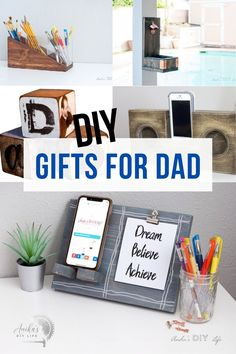 These simple last-minute DIY gifts for him are perfect for any occasion! He will love these ideas and they will not be shoved in a drawer! #diygiftsforhim #diygift #AnikasDIYLife Diy Gifts For Dad, Diy Father's Day Gifts, Father's Day Diy, Easy Diy Gifts, Fathers Day Gifts, Gifts For Him, Scrap Wood Projects, Woodworking Projects That Sell, Woodworking Plans