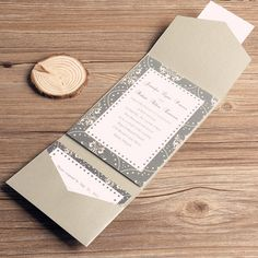 grey pocket invitations