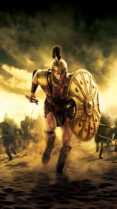 n Greek mythology, Achilles or Achilleus (Ancient Greek: Ἀχιλλεύς,) was a hero of the Trojan War, the greatest of all the Greek warriors, Greek Mythology Tattoos, Greek And Roman Mythology, Brad Pitt Troy, Alter Krieger, Troy Achilles, Troy Movie, Spartan Tattoo, 4k Pictures, Roman Warriors
