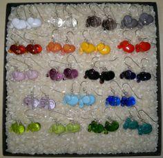 Glass and silver Cute Elephant, Elephants, Glass, Earrings, Silver, Jewelry, Design, Stud Earrings, Drinkware